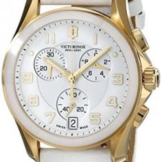 Victorinox Women's 241511 Gold-Tone Accented White   100% original, import SUA, 10 zile lucratoare af22508 - Ceas dama Victorinox, Casual, Quartz, Analog