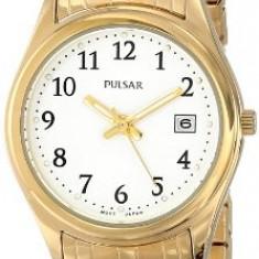Pulsar Women's PXT586 Expansion Gold-Tone Stainless | 100% original, import SUA, 10 zile lucratoare af22508 - Ceas dama Pulsar, Analog
