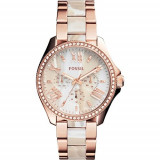 Fossil Women's AM4616 Cecile Three-Hand Stainless | 100% original, import SUA, 10 zile lucratoare af22508 - Ceas dama Fossil, Analog