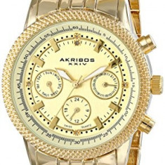 Akribos XXIV Women's AK722YG Lady Diamond | 100% original, import SUA, 10 zile lucratoare af22508 - Ceas dama Akribos, Casual, Quartz, Analog