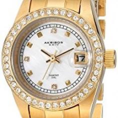 Akribos XXIV Women's AK489YG Diamond Quartz | 100% original, import SUA, 10 zile lucratoare af22508 - Ceas dama Akribos, Casual, Analog