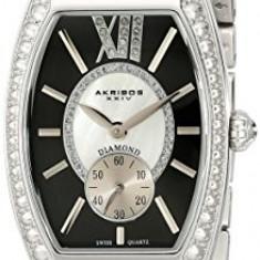 Akribos XXIV Women's AKR470BK Diamond Swiss | 100% original, import SUA, 10 zile lucratoare af22508 - Ceas dama Akribos, Analog