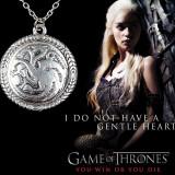 Pandantiv / Colier / Lantisor - GAME OF THRONES -Targaryen Ice And Fire