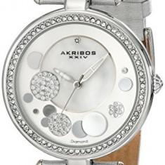 Akribos XXIV Women's AKR434SL Diamond Silver | 100% original, import SUA, 10 zile lucratoare af22508 - Ceas dama Akribos, Analog