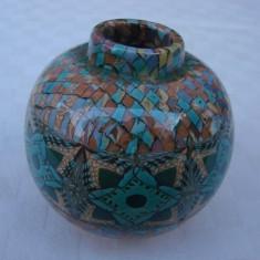 Raritate !!! Superba vaza din ceramica emailata VALLAURIS, semnata Gerbino (1) - Arta Ceramica