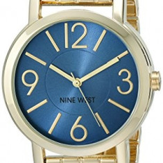 Nine West Women's NW 1694BLGB Blue | 100% original, import SUA, 10 zile lucratoare af22508 - Ceas dama Nine West, Analog