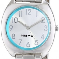 Nine West Women's NW 1569TLSB Silver-Tone | 100% original, import SUA, 10 zile lucratoare af22508 - Ceas dama Nine West, Analog