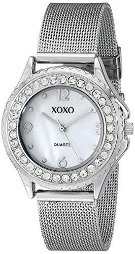 XOXO Women's XO5550 Silver-Tone Rhinestone-Accent Watch   100% original, import SUA, 10 zile lucratoare af22508 foto mare