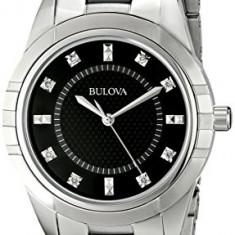 Bulova Women's 98P136 Diamond Dial Watch   100% original, import SUA, 10 zile lucratoare af22508 - Ceas dama Bulova, Analog
