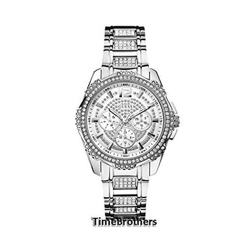 GUESS Women's U0286L1 Silver-Tone Glitz Watch | 100% original, import SUA, 10 zile lucratoare af22508 foto mare