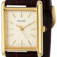Pulsar Women's PTC386 Gold-Tone Brown Leather | 100% original, import SUA, 10 zile lucratoare af22508 - Ceas dama Pulsar, Casual, Quartz, Analog