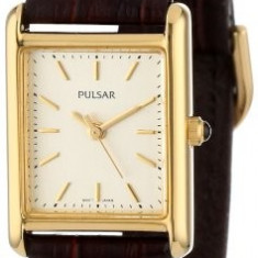 Pulsar Women's PTC386 Gold-Tone Brown Leather | 100% original, import SUA, 10 zile lucratoare af22508 - Ceas dama Pulsar, Casual, Quartz, Analog