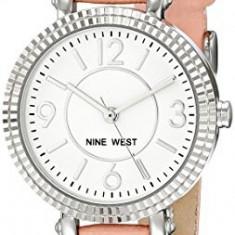 Nine West Women's NW 1715WTPK Silver-Tone | 100% original, import SUA, 10 zile lucratoare af22508 - Ceas dama Nine West, Casual, Quartz, Analog