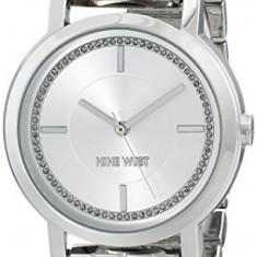 Nine West Women's NW 1643SVSB Glitter-Accented | 100% original, import SUA, 10 zile lucratoare af22508 - Ceas dama Nine West, Casual, Quartz, Analog