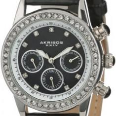 Akribos XXIV Women's AK556BK Dazzling Silver-tone | 100% original, import SUA, 10 zile lucratoare af22508 - Ceas dama Akribos, Casual, Analog
