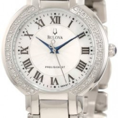 Bulova Women's 96R167 FAIRLAWN Diamond Bezel | 100% original, import SUA, 10 zile lucratoare af22508 - Ceas dama Bulova, Analog