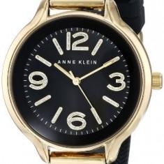 Anne Klein Women's AK 1614GPBK Gold-Tone | 100% original, import SUA, 10 zile lucratoare af22508 - Ceas dama Anne Klein, Casual, Quartz, Analog