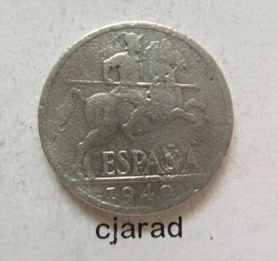 Moneda 10 Centimos - SPANIA, anul 1940 *cod 456 foto