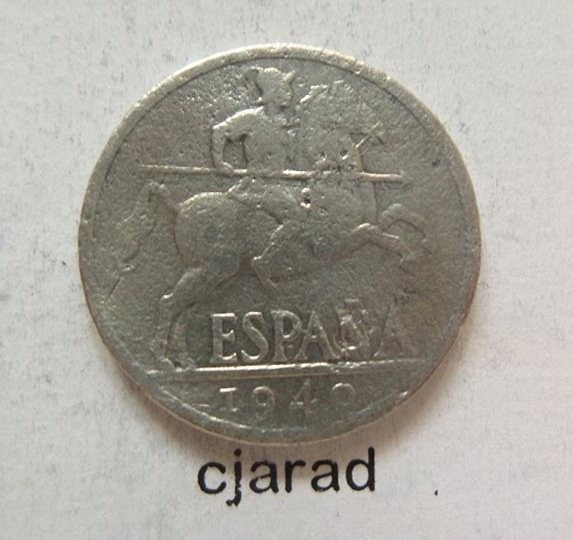 Moneda 10 Centimos - SPANIA, anul 1940 *cod 456 foto mare