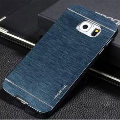 Husa MOTOMO NAVY pelicula aluminiu Samsung Galaxy S6 + folie protectie ecran