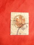 Timbru 50 Para gri Alex Obrenovici supratipar stema Serbiei 1903 stampilat