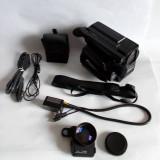 Aparat de filmat, video camera recorder AIWA CV-50 + geanta si accesorii, vintag