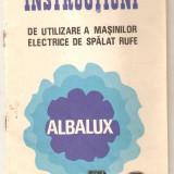 Instructiuni pentru masina de spalat rufe Albalux 7, 8, 11, 12 - Carti Electrotehnica