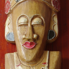 Sculptura - Masca tip bust realizata din lemn - model deosebit !!!