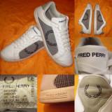 Adidas FRED PERRY (44) piele + carouri  Pantofi sport casual barbati