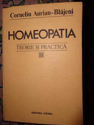 Homeopatia teorie si practica an 1985/574pagini- Corneliu Aurian Blajeni foto