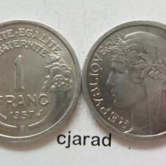 Moneda 1 Franc - 1957 FRANTA *cod 437, Europa