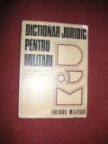Dictionar juridic pentru militari  (1975)
