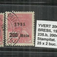 BRAZILIA - 1931 - 235. 200 R. S.300., Stampilat
