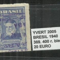 BRAZILIA - 1940 - 369. 400 R., Stampilat