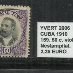 CUBA 1910 - 159. 50 C., Nestampilat