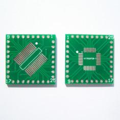 Adaptor PCB SMD to DIP QFP32 / TQFP32 / LQFP32 / FQFP32 /SOP32 / SSOP32