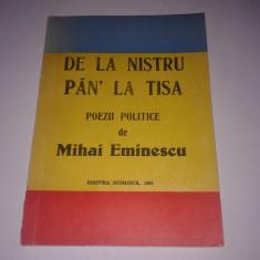 DE LA NISTRU PAN' LA TISA poezii politice de MIHAI EMINESCU