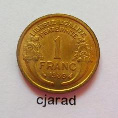 Moneda 1 Franc - Franta 1939 *cod 489, Europa