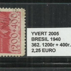 BRAZILIA - 1940 - 362.1200R.+400R, Nestampilat