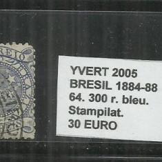 BRAZILIA - 1884 - 88 - 64. 300 R, Stampilat