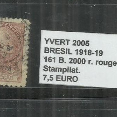 BRAZILIA - 1918 -19 - 161 B. 2000 R., Stampilat