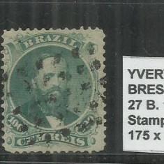BRAZILIA - 1866 - 27B.100R, Stampilat