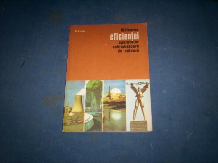RIDICAREA EFICIENTEI APARATELOR SCHIMBATOARE DE CALDURA