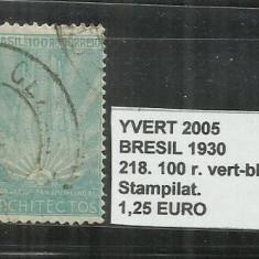 BRAZILIA - 1930 - 218, 100 R, Stampilat