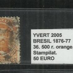 BRAZILIA - 1876 - 77 - 36. 500 R, Stampilat
