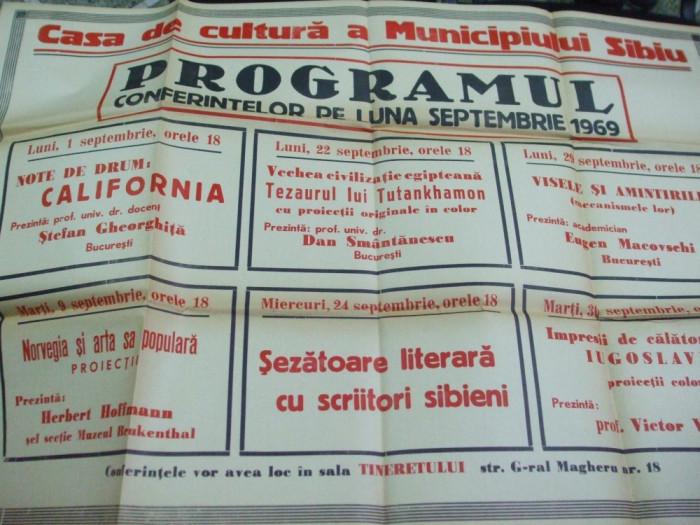Sibiu casa de cultura program sezatoare scriitori sibieni foto mare