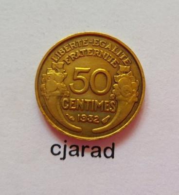 Moneda 50 Centimes - Franta 1932 *cod 495 foto