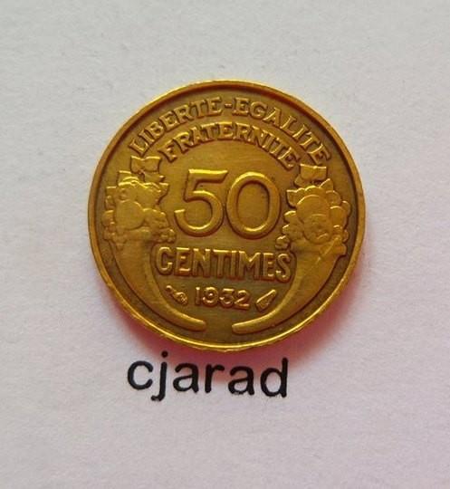 Moneda 50 Centimes - Franta 1932 *cod 495 foto mare