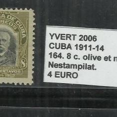 CUBA 1911 - 14 - 164. 8 C., Nestampilat