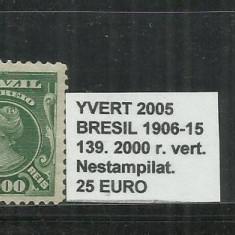 BRAZILIA - 1906 -15 - 139. 2000 R., Nestampilat